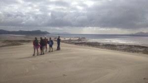 Beautiful stormy day walking the grand dune