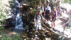 Tanekaha Falls..here are our Trackies, discovering, developing and maintaining new and exciting walking trails in Mangawhai